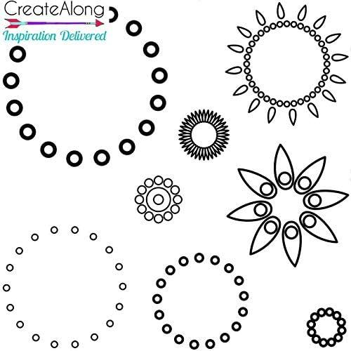 Silkscreen Stencil Dotty Mandala Builder for Polymer Clay and Mixed Media