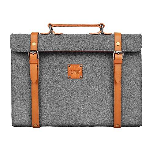 laptop briefcase sleeve wool