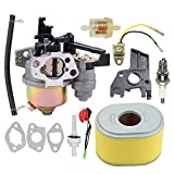 Allong Carburetor with Air Filter Fuel Tank Joint Filter for Honda GX160 5.5 HP GX200 6.5 HP Engine WP30X Water Pump Pressure Washer Replaces# 16100-ZH8-W61 Tune Up Kit
