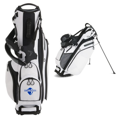 Franklin & Marshall Callaway Hyper Lite 4 White Stand Bag 'Diplomats Official Logo' by CollegeFanGear