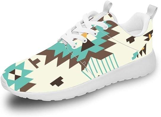 Mesllings Zapatillas de Running Unisex con diseño de triángulo de Diamante y polígono, Ligeras, para Deportes al Aire Libre: Amazon.es: Zapatos y complementos