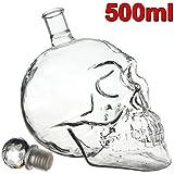 Bouteille crane de crystal Vodka verre Skullhead Tete Mort cristal verrie 500ml