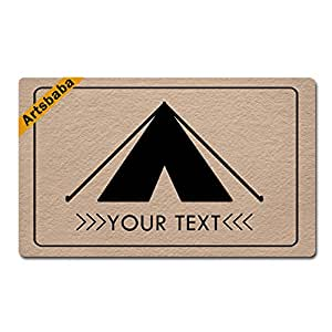 "Artsbaba Personalized Your Text Doormat Tent Doormats Monogram Non-Slip Doormat Non-woven Fabric Floor Mat Indoor Entrance Rug Decor Mat 30"" x 18"""