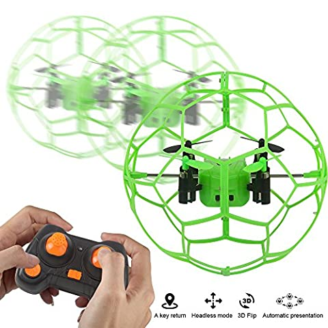 Dazhong 2.4GZ 4CH Mini RC Quadcopter with 6-Axis gyroscope Headless Mode Green/Orange drone for (A Sense Of Direction Ball)