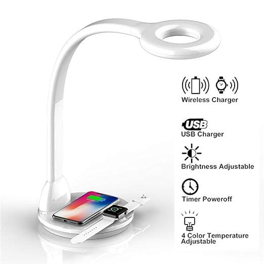Lámpara de Escritorio con Base de Carga Inalambrica Wireless y ...