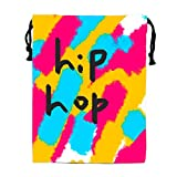 Hip Hop Abstract Painting Printed Drawstring Shoe Pouch travel Lingerie Bag Storage Organizer sack
