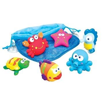 itsImagical - Glu-Glu Squeez Sea, animalitos de goma para jugar en la bañera (Imaginarium 53707): Amazon.es: Juguetes y juegos