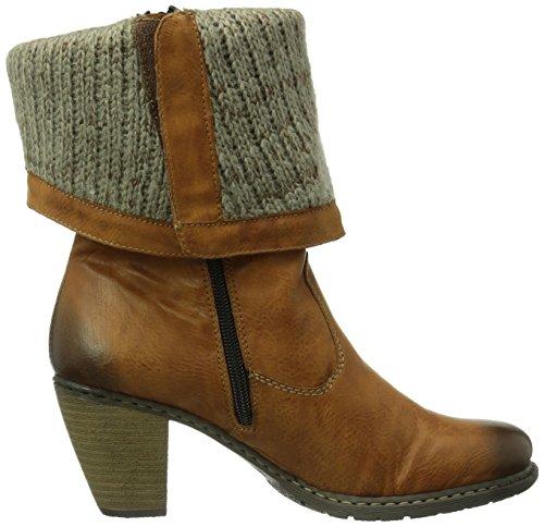 Rieker Z1571-23, Botas para Mujer marrón - Braun (cayenne/stein / 23)