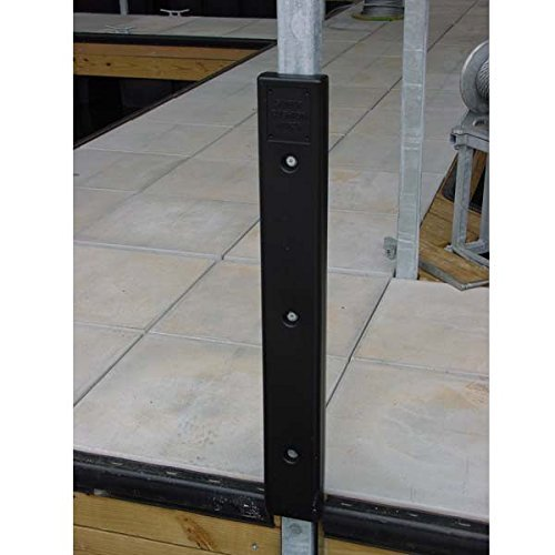 AMRK-H-20B.016 * Notched Cushion Dock Post Bumper with 2'' Channel - Black by K & R Manufacturing (Image #1)