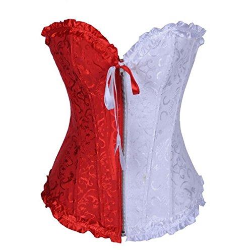 E-Girl FOB819A Mujer RojoBlanco Lencería y ropa interior Corsés y bustiers,S
