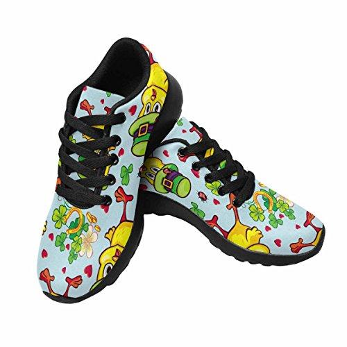 Interessante Womens Jogging Running Sneaker Leggero Go Easy Walking Sport Sportivo Scarpe Da Ginnastica Divertente Giallo Pulcino In Cappello Verde
