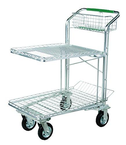 Tierra Garden 35222 Standard Frame Shopping Cart with 6'' Flat Proof Wheels, 6'' Flat Proof Wheel by Tierra Garden