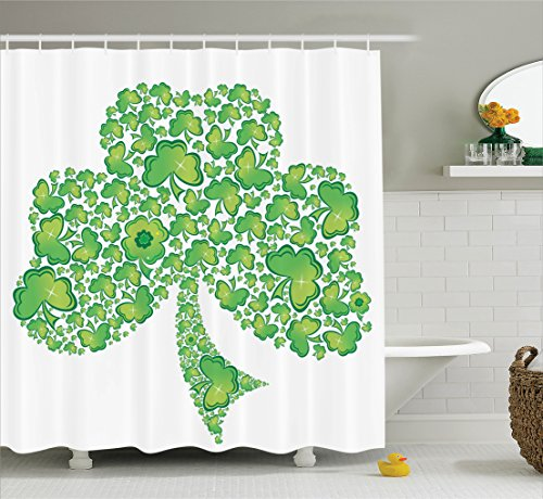 Irish Shamrock Shower Curtain, 84 Inches