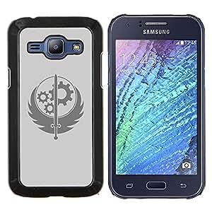 LECELL--Funda protectora / Cubierta / Piel For Samsung Galaxy J1 J100 -- Rueda Espada sesión --