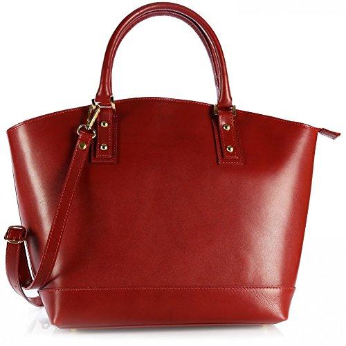 Cuir Olivia main 100 Sac Rouge CUIR LATINA à Cabas OFFERT cuir Rouge ORGANISEUR veritable femme Ref vegetal Sac xax0qdwE