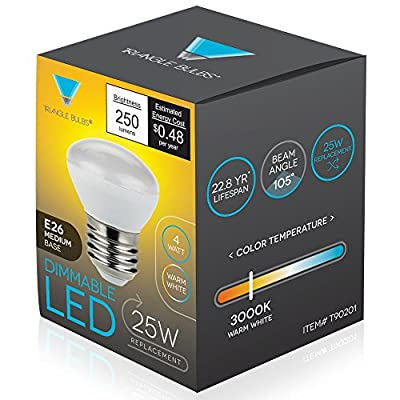 TriGlow T90201-4 LED 4-Watt Dimmable R14 Mini Reflector, 25W Equivalent, E26 Medium Base Light Bulbs, 4-Pack: Toys & Games