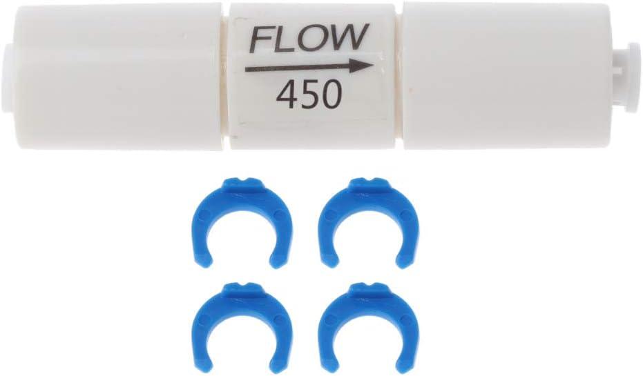 Bianco Blu JOYKK 800cc Filtro Acqua Osmosi inversa Limitatore di Flusso per Tubo capillare Inserto per Sistema RO