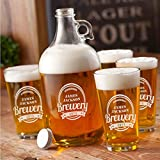 Personalized Brewery Growler Set - White - Improvements