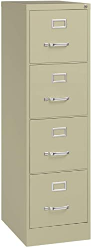 Hirsh Industries 22 Deep Vertical File Cabinet 4-Drawer Letter Size Putty, 17891