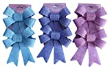Happy Easter Bundle of 6 Burlap Pastel Colored Holiday Bows