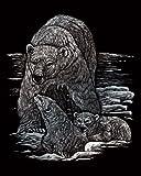Royal and Langnickel Silver Engraving Art, Polar Bear and Cubs