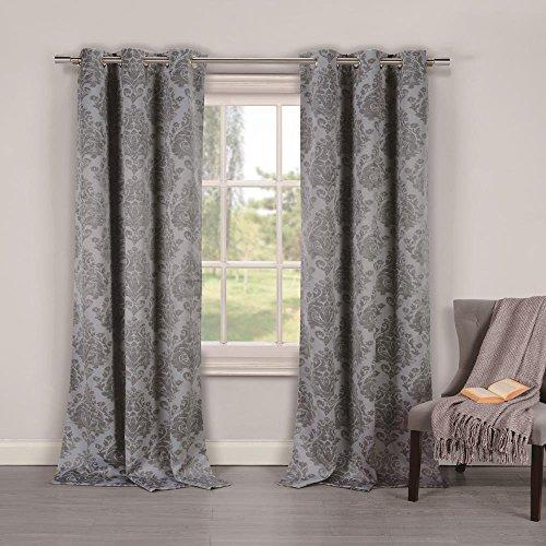 Duck River Textiles PHELAN 10079=12 Blackout Grommet Pair Panels (2 Piece), 36″ x 84″, Gray For Sale
