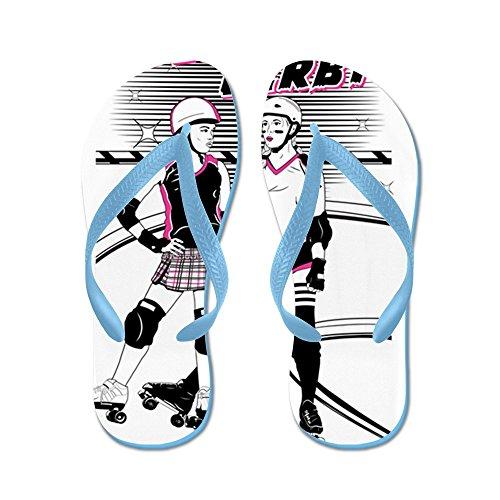 CafePress Roller Derby - Flip Flops, Funny Thong Sandals, Beach Sandals Caribbean Blue