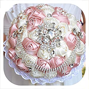 mamamoo Gorgeous Wedding Bouquet Brooch Bridal Bouquet Ivory Artificial Rose Flower Bride Bouquets Wedding Accessories 64