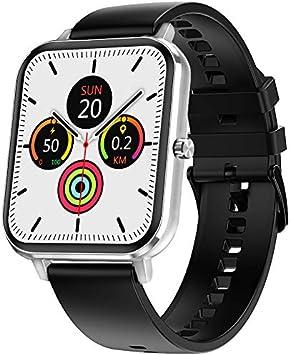 jpantech Smartwatch, Reloj Inteligente Mujer Hombre IP68 con Llamada Bluetooth, 1.75 Inch Smartwatch Presión Arterial Monitor de Sueño GPS Podómetro Pulsera Compatible con iOS y Android(Plata)