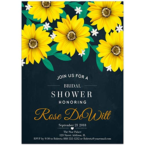 Daisies Bridal Shower Invitations