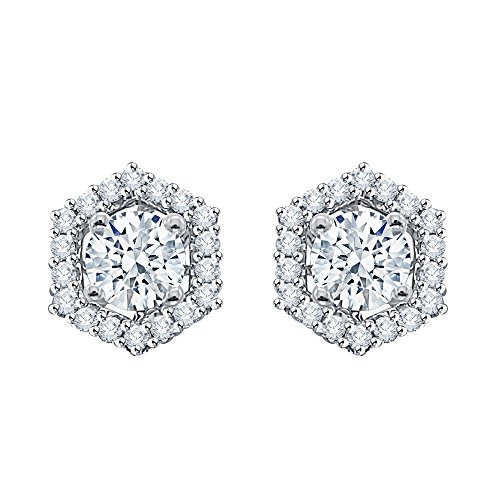Diamond Earring Jackets in 14K White Gold (1/4 cttw) (Color GH, Clarity I1-I2) by KATARINA (Image #1)