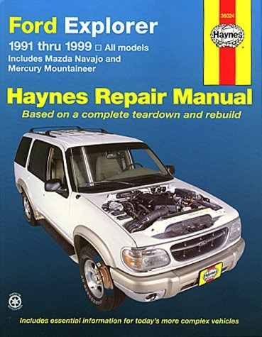 Ford Explorer, Mazda Navajo and Mercury Mountaineer (1991-1999) Automotive Repair Manual (Haynes Automotive Repair Manuals) by Alan Ahlstrand (2000-05-30)