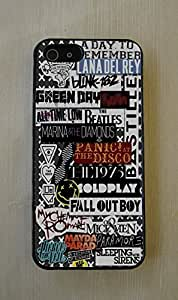 Arctic Monkeys, All time low, Blink 182, Green day, ColdPlay, Nirvana, Lana Del Rey Music Collage Fitted Case for iPhone 5C