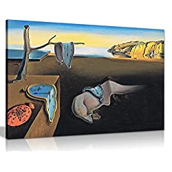 Salvador Dali Persistance of Time Canvas Wall Art Picture Print (12x8in)