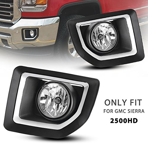 Style Fog Lights Kit - AUTOSAVER88 OE Style Fog Lights For GMC Sierra 2500 HD 2015 2016 ( 5202 Clear Lens / Wiring Kit Included)