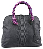 Softbag Women's Medium Printed Arch Anaconda Satchel, Style S13FA002M, Grey