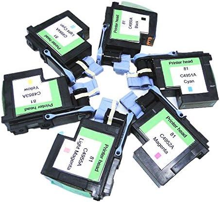yotat remanufacturados para 81 C4950 A C4951 A c4952 a C4953 A C4954 A C4955 A cabezal de impresión para HP DesignJet 5000, 5000ps, 5500, 5500ps (1set 6pcs): Amazon.es: Electrónica