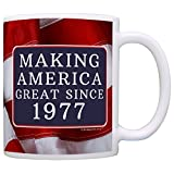40th Birthday Gifts For All Making American Great Since 1977 Republican Gift Coffee Mug Tea Cup USA Flag