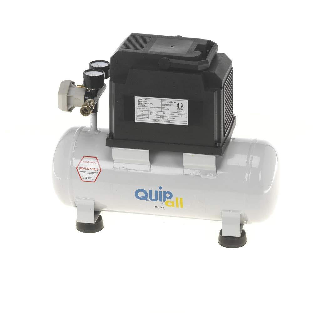 Quipall 2-.33 Oil Free Compressor, 1/3 HP, 2 Gallon,Steel Tank