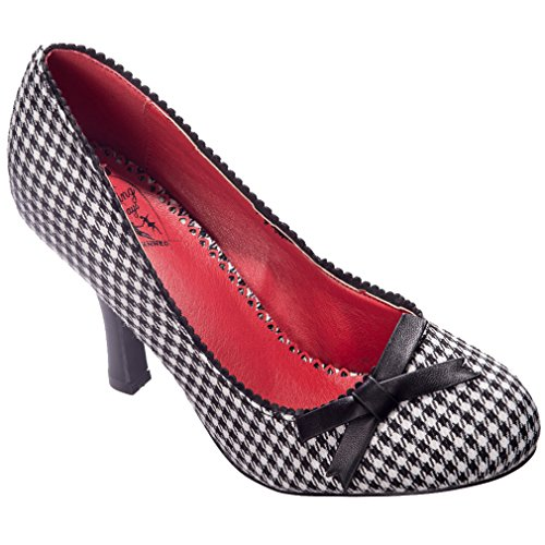 Banned Dancing Days High Heel Pumps - String of Pearl Houndstooth Schwarz