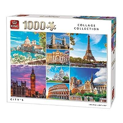 King 55881 Collage City Puzzle 1000 Pezzi A Colori 68 X 49 Cm