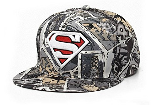 Superman Gray Pink Green Brown Hip-Hop Caps Men Women Fashion (4 units)