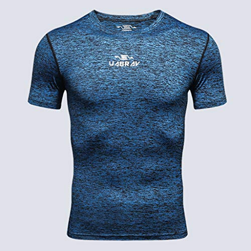 Corta Outdoor Sports Fitness Kobay Manica Camicia Addestramento Da Nuovi Vestiti Di Camicetta Uomo Superiore Marino tshrQdC