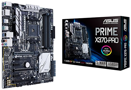 ASUS Prime X370-Pro AMD Ryzen AM4 DDR4 DP HDMI M.2 USB 3.1 ATX X370 Motherboard with Aura Sync RGB Lighting