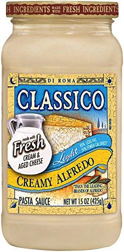 Classico Light Creamy Alfredo Pasta Sauce, 15 Ounce