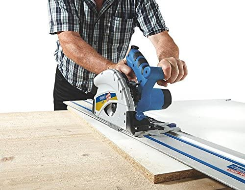 Scheppach PL45 145mm Plunge Saw 240v 2 x 700mm Guide Rails /& Connector