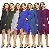 RUIVE Women's Sweatshirt Dresses Autumn Patchwork
