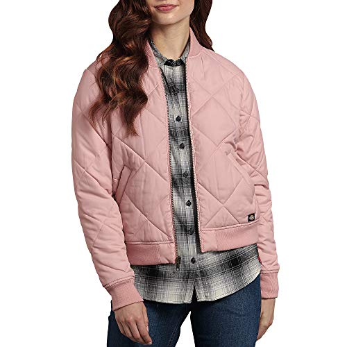 Dickies Twill Jacket - Dickies Women's Quilted Bomber Jacket, Lotus, Extra Large