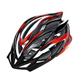 Lixada MTB/Road Cycling Mountain Bike Bicycle Adjustable Helmet 25 Vents Ultralight Integrally-molded EPS for Skating Outdoor Sports Color Red