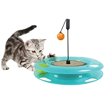 FancyU Pelota de Juguete para Mascotas con Forma de Gato y Juguete, Juego de Ejercicio Juego Interactivo y Ejercicio de Juguete para Gatos Gatitos: ...